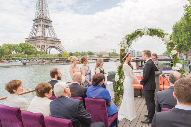 eiffel tower cruise wedding