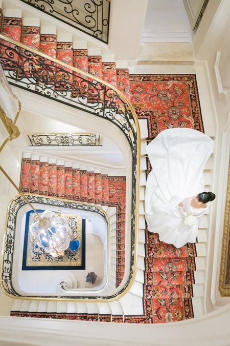 ritz staircase wedding
