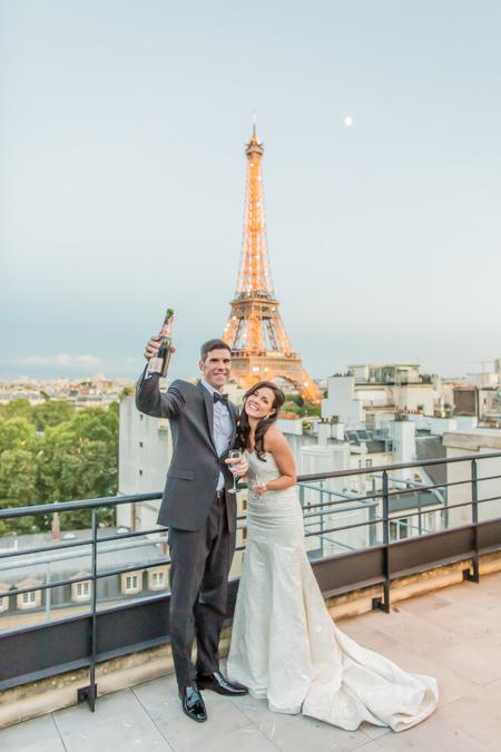 paris eiffel tower wedding