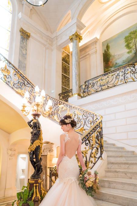 shangri-la paris bride portrait