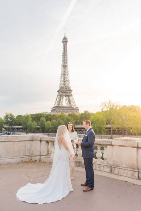 eiffel tower bridge wedding