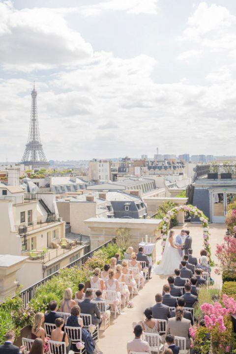 eiffel tower wedding rooftop